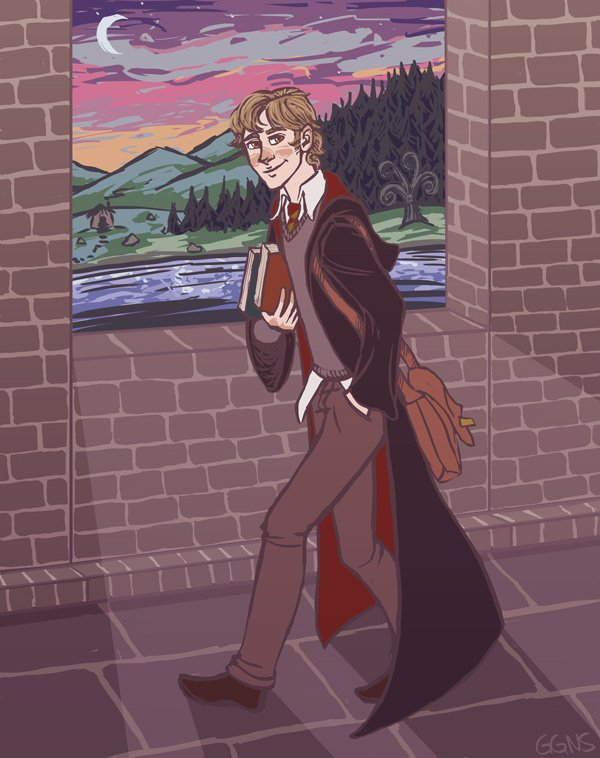 We should all take a page out of Remus Lupins book and find time in our #busy schedules to befriend someone in need #PotterArt by ggns mugglenet.com/2015/04/becomi…