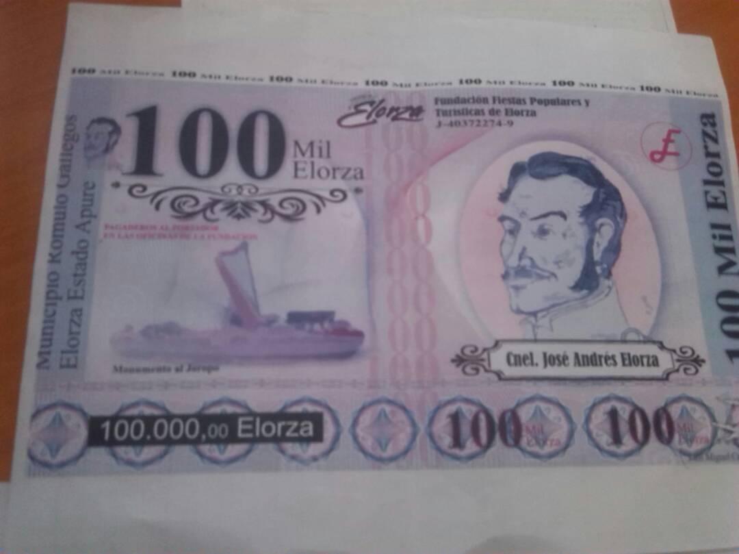 Ante la crisis del efectivo, empiezan a circular monedas locales. Acá está el Elorza, emitido en la ciudad de Elorza, estado Apure. La hiperinflación y la falta de efectivo están haciendo que surjan mini bancos centrales.
