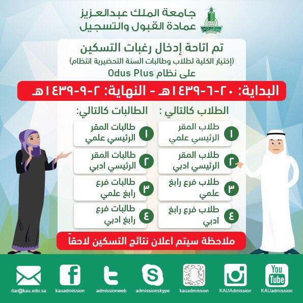 تخصصات جامعة الملك عبدالعزيز انتظام ادبي