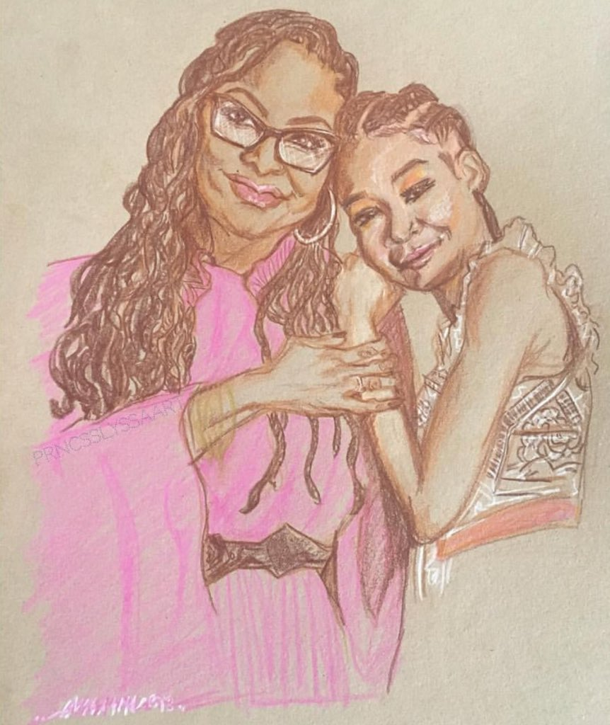 #FanArtFriday  Beautiful art of #AvaDuVernay and Storm Reid by prncsslyssa_art