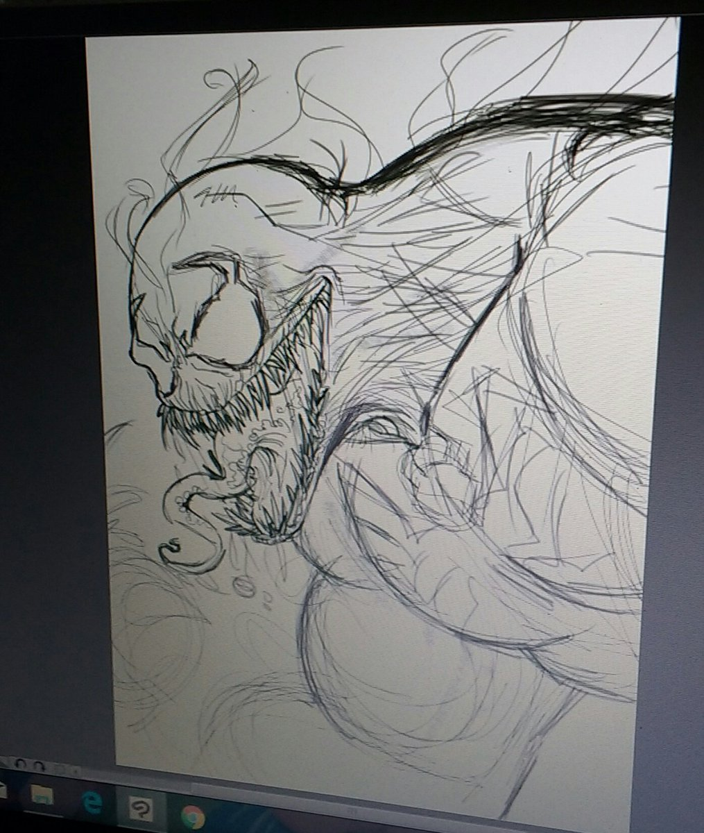 Roberto Ok Corral On Twitter Venom Warm Up Sketch Pencil Venom