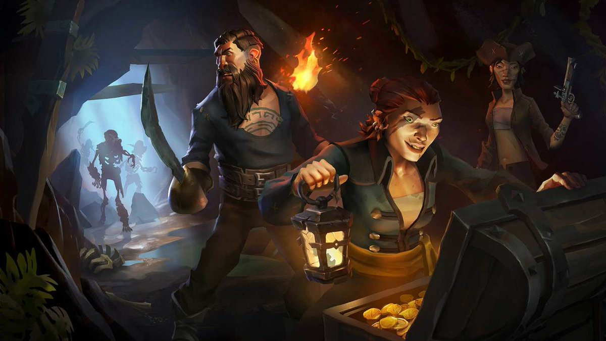 Rare studio head @Gamerboss explains how, after coming up with the co-op adventure concept, Rare explored a wide array of different themes before settling on pirates.  https://t.co/1CHcFGXQDT
