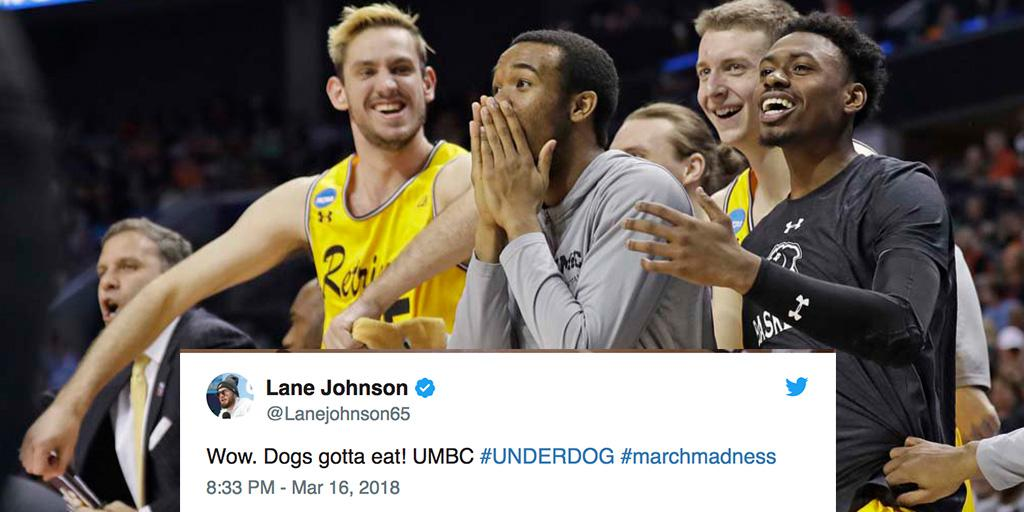 NFL players react to UMBCs historic upset over Virginia: on.nfl.com/hP0nBF #MarchMadness