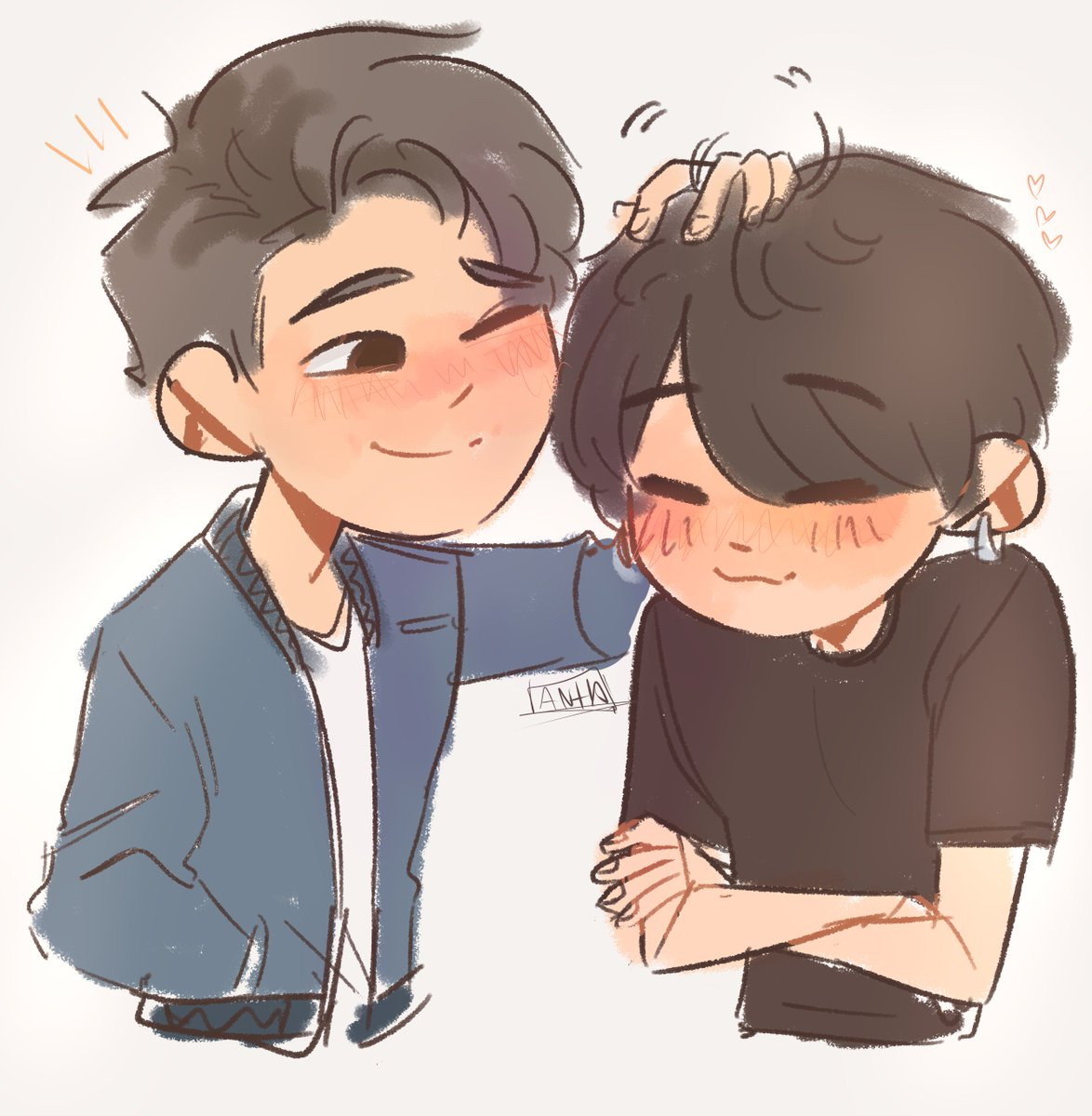 JK being shy bc of Namjoon???? JK being...