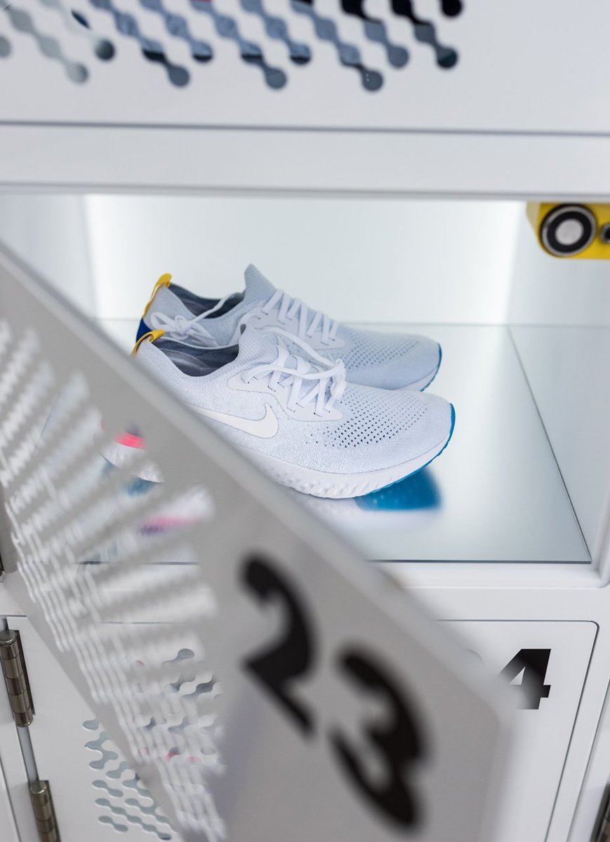Head over to @thelinehotel to unlock your free trial pair of the Nike Epic  React Flyknits, today through Sunday, for the chance to get them for the  race.