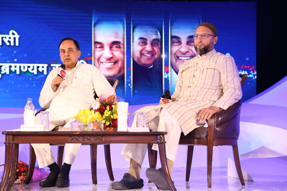 #ZeeIndiaConclave Muslims and Hindu are one, we share the same DNA - @Swamy39  @asadowaisi @sudhirchaudhary  https://t.co/dznYNHgjUN