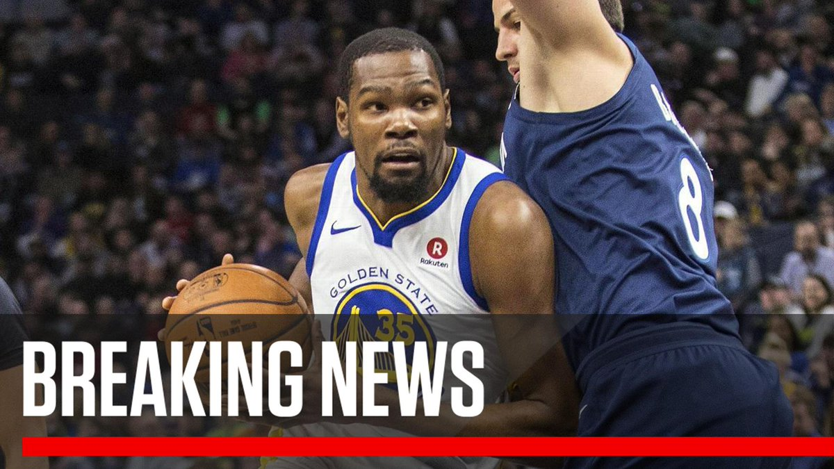 Breaking: Kevin Durant will be sidelined at least two weeks after an MRI revealed that he has an incomplete rib cartilage fracture, the Warriors announced. es.pn/2G0QVE0