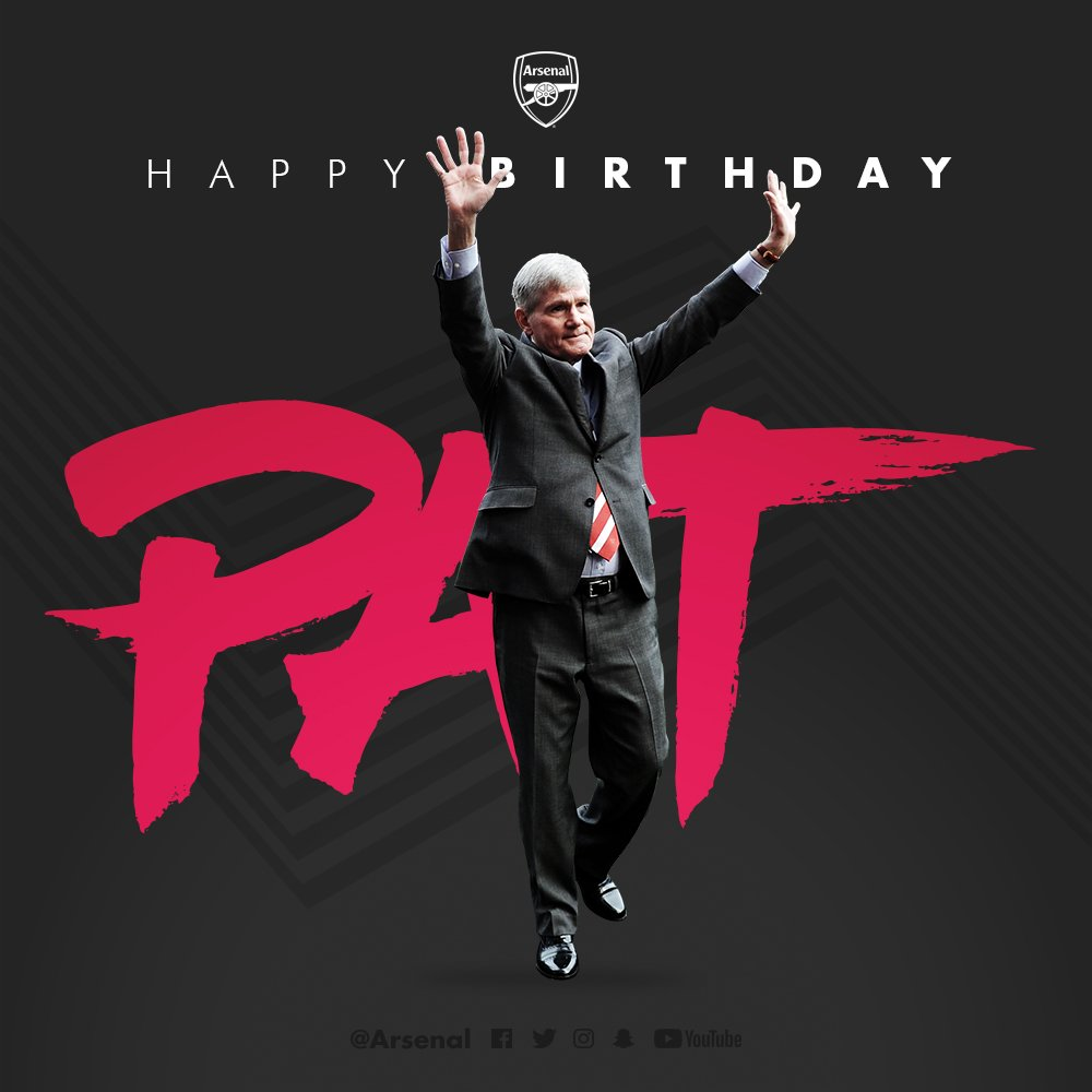 An Arsenal legend turns 69 today - happy birthday, Pat Rice 🎈
