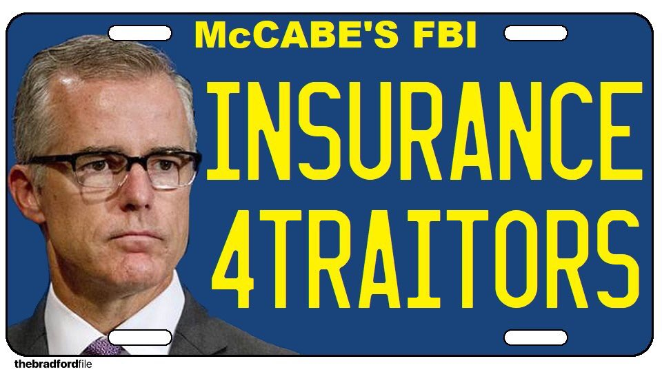 Andrew McCabe is fired--good. No retirement for traitors. ✔️