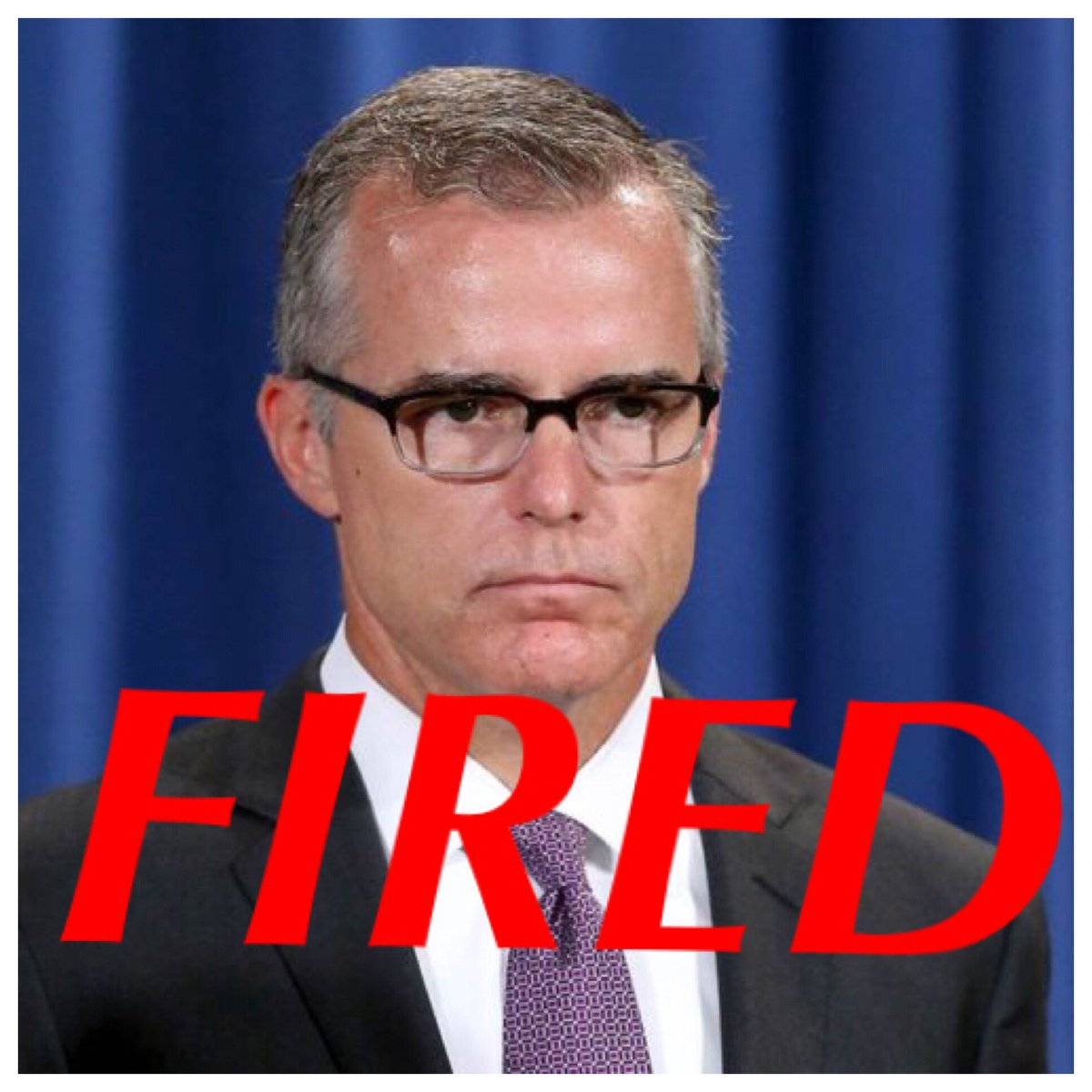 Andrew McCabe fired from FBI, effective...