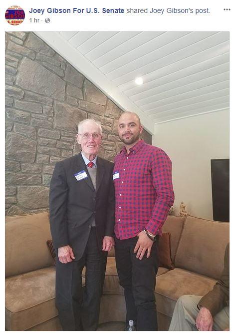 'Alt-right' GOP Senate candidate Joey Gibson, running against @SenatorCantwell, posts photo w. former U.S. Sen. Slade Gorton (who lost to Cantwell in 2000) #waelex