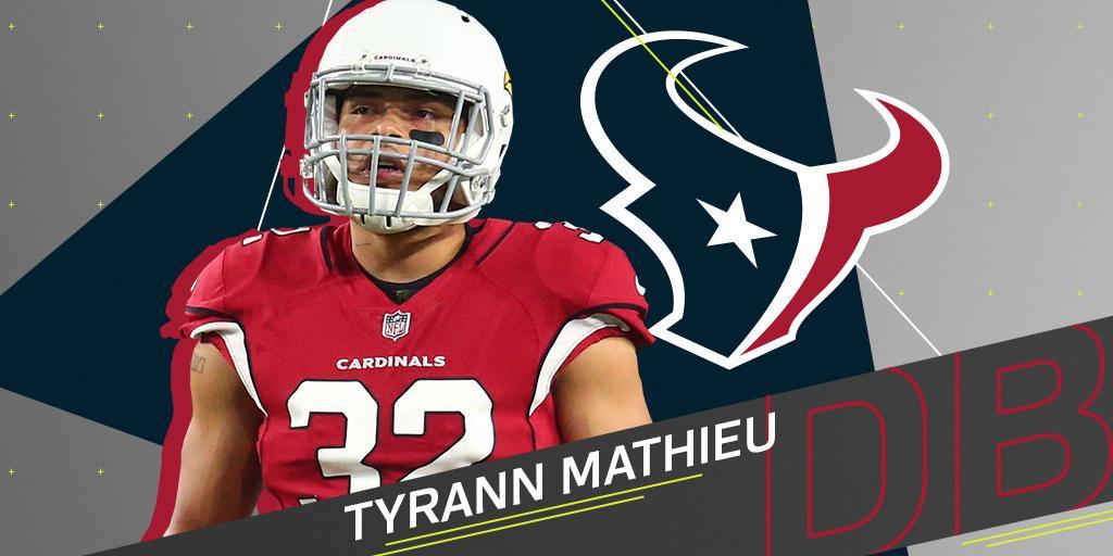 .@HoustonTexans expected to sign Tyrann Mathieu (@Mathieu_Era): on.nfl.com/mOzFWz