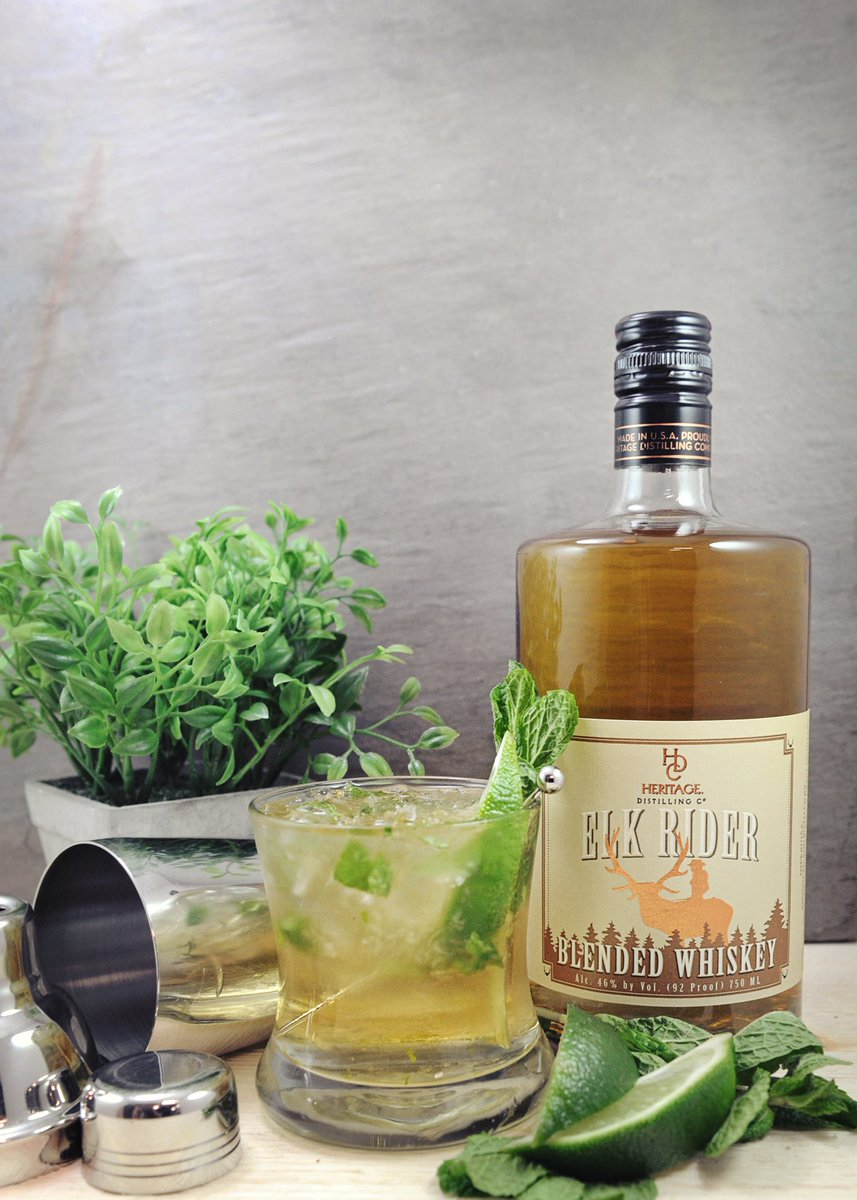 test Twitter Media - Irish Whiskey Smash ☘️🍀☘️ 2oz Elk Rider Blended Whiskey  5 Mint leaves 1/2 Lime cut into wedges 1/2oz Simple syrup Muddle Mint, lime & syrup. Add ice and whiskey, shake and strain over ice. Garnish w/Mint  #HeritageDistilling #StPatricksDay https://t.co/tuEaDvTxJN