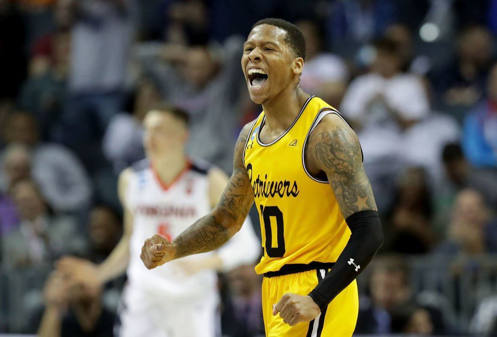 16 seeds were 0-135 all-time against 1 seeds...until tonight!  UMBC becomes the first 16 seed to ever beat a 1 seed.  It's the Retrievers' first-ever NCAA Tournament win.
