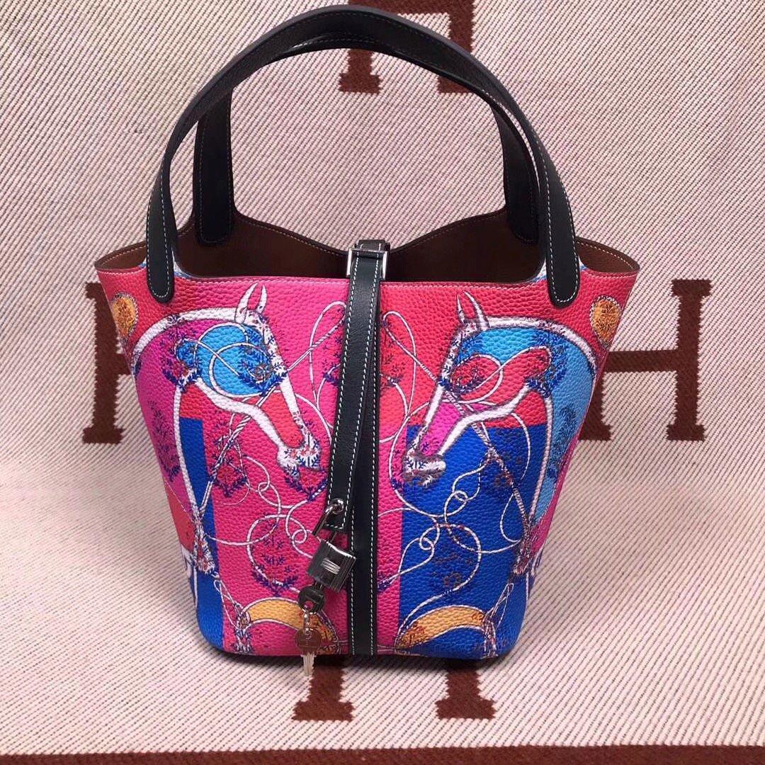 c6fcf0f6e2d2 Hermes Fushica/Gold Picotin Lock 18 Togo Leather Bag by Bella Vita Moda  Personalization http