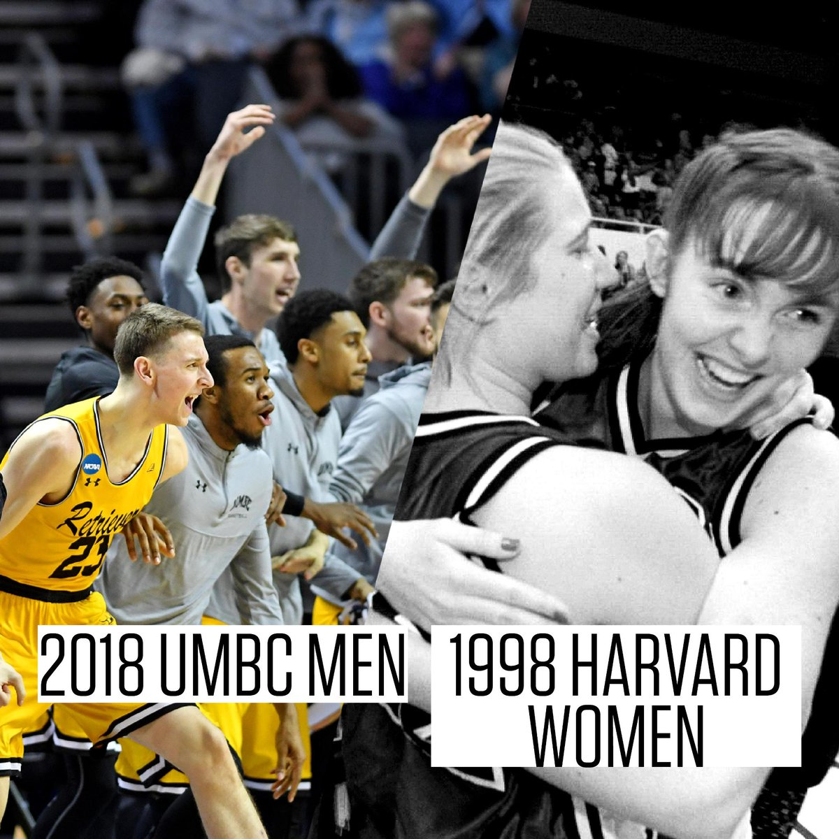 The only 16-seeds to ever upset a 1-seed in Division I history.