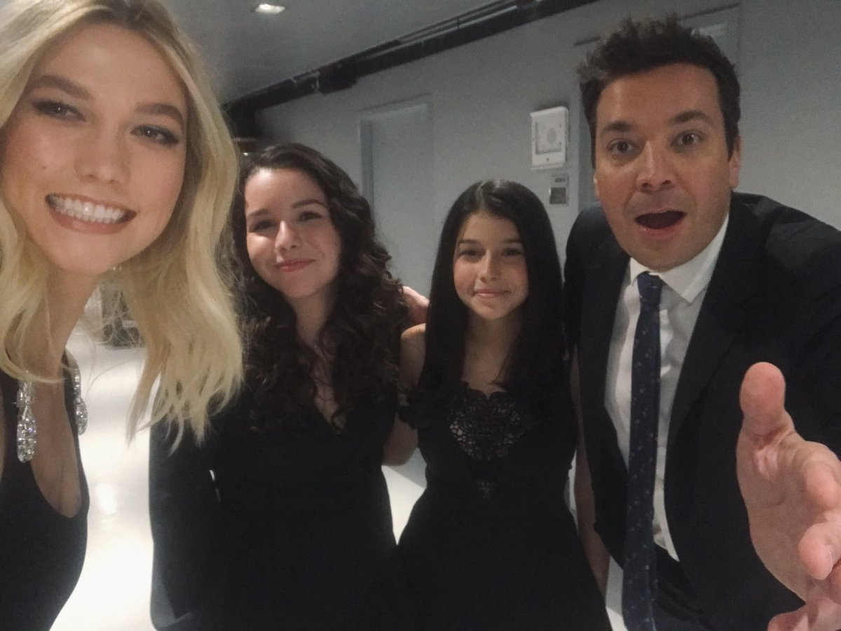Catch us on @FallonTonight with our favorite @jimmyfallon! Sisters Valeria and Kyara took their @kodewithklossy education and started weekly computer science classes at their public library. I'm unbelievably proud of these scholars, and what the future holds for so many more!