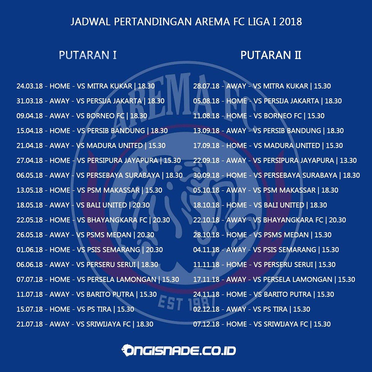 Arema Fc Vs Persebaya: Jadwal Arema Liga Indonesia 2018