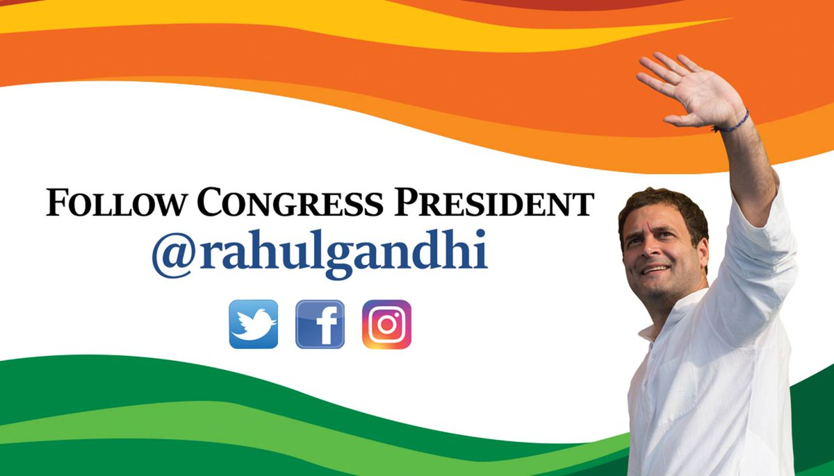 Please note Congress President Rahul Gandhi's new Twitter handle @RahulGandhi #ChangeIsNow