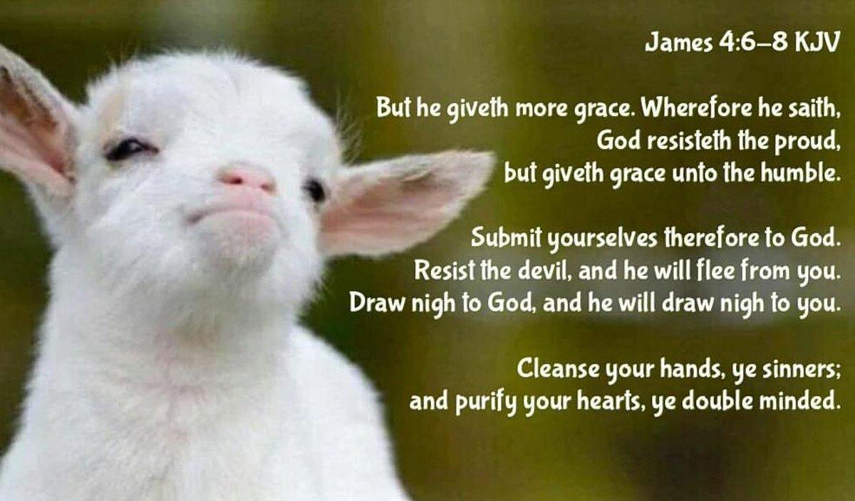 """Bible Verses KJV on Twitter: """"James 4:6 KJV But he giveth more ..."""