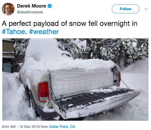 People are sharing crazy photos of the storm slamming Tahoe https://t.co/4VvH2k2lGc