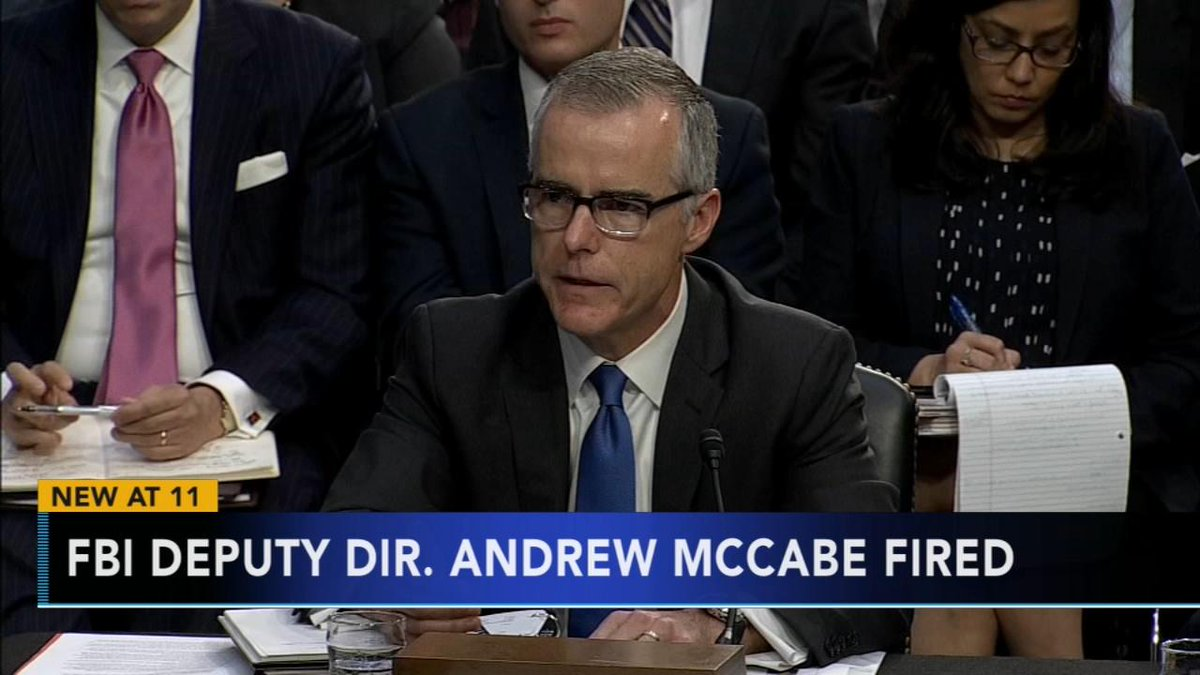 Sessions fires former FBI Deputy Director McCabe-https://t.co/Do0uhWss5V