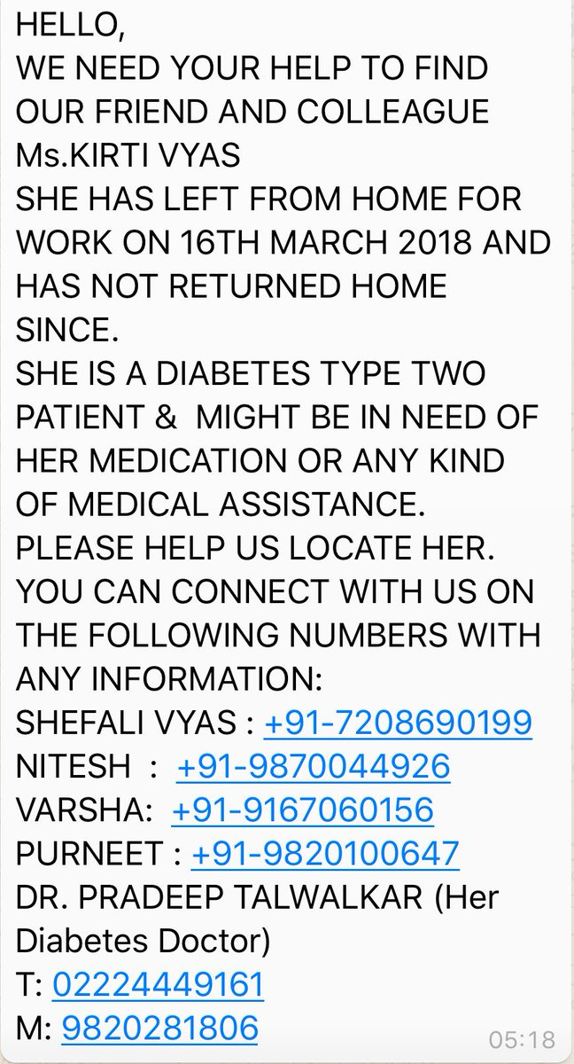 This is urgent. Please RT.