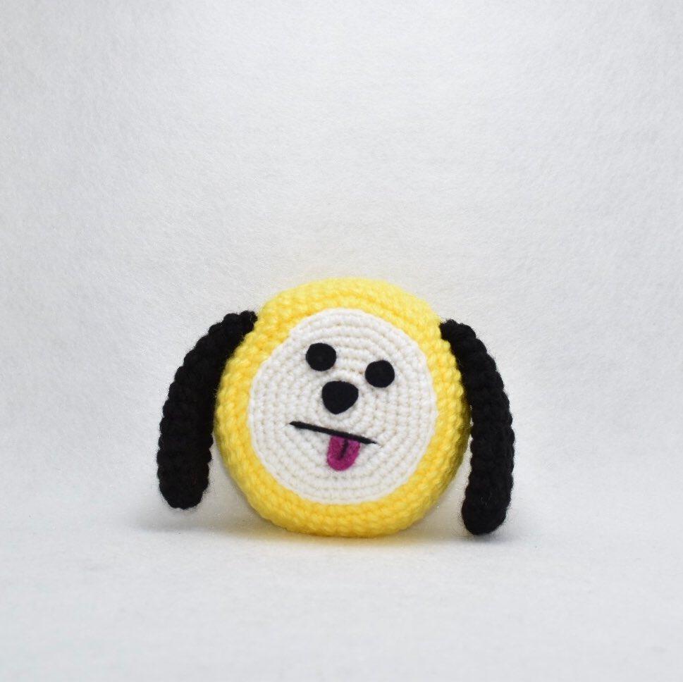 Crocheting BT21 Cooky // Amigurumi TImelapse - YouTube | 968x969
