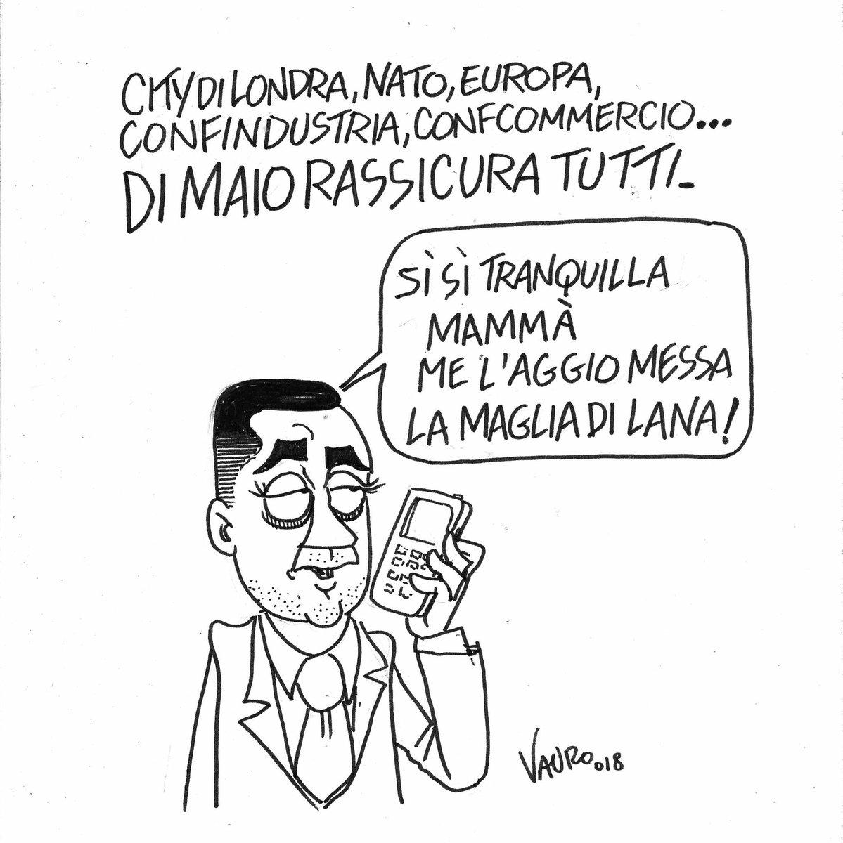 La mia nuova vignetta oggi in edicola #dimaio #M5SALGOVERNO @fattoquotidiano #17Marzo  - Ukustom
