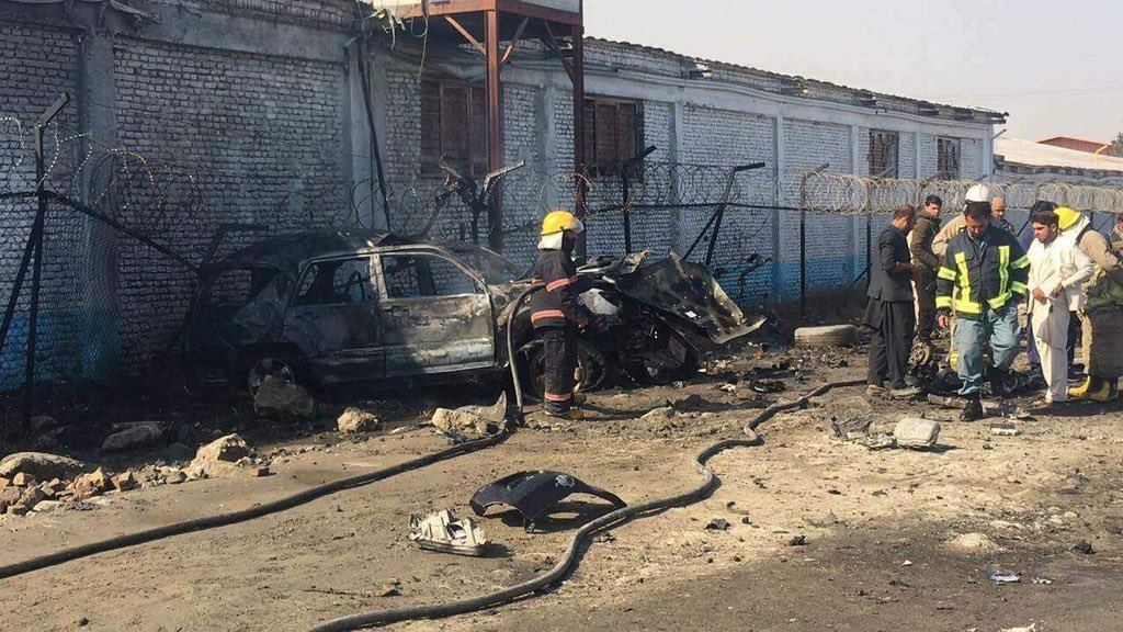Car Bomb Attack Leaves Five Dead, Wounded in #Kabul ariananews.af/?p=255292