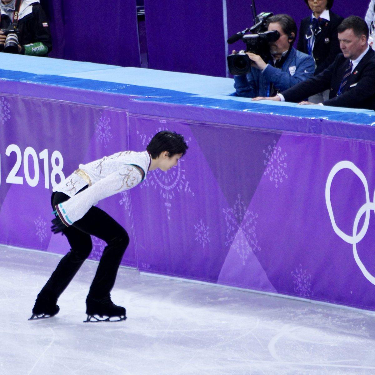2018.2.17 コールの時。 前も載せたけど💦 笑っていたんだよね😌  #PyeongChang2018  #YuzuruHanyu