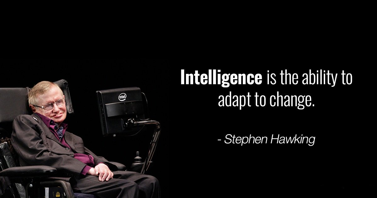 #Thoughtoftheday #stephenhawkins #intell...