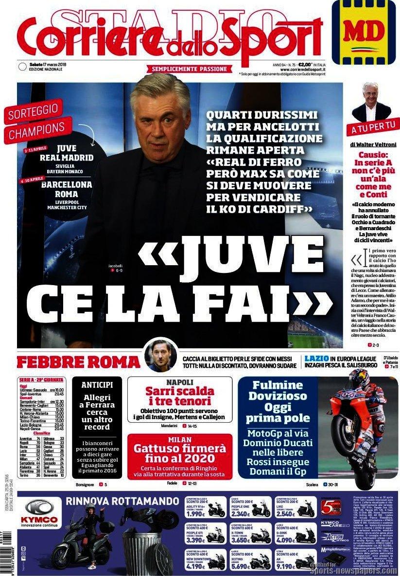 #Champions: Italia-Spagna da brividi. Milan, #Gattuso fino al 2020. #Rassegnastampa https://t.co/YRBplQbnuj