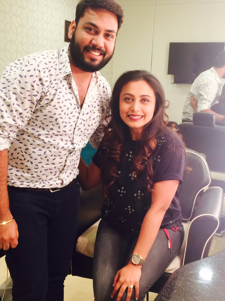 Dear #RaniMukerji, you are mine forever! With love, your fan RB❤️@yrf @yrftalent @HichkiTheFilm @sidpmalhotra Thanks for this amazing meet. We haven't changed a bit!!
