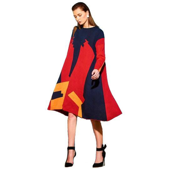 @poacheronline don carry The Asymmetrical Color Block Long Sleeve Women Sweater Dress come.   The cloth fine, e dey match with different colors, and the money no dey tear pocket.  Buy your own from: thepoacheronline.shop/products/asymm…  No forget say free shipping dey for market wey reach $50