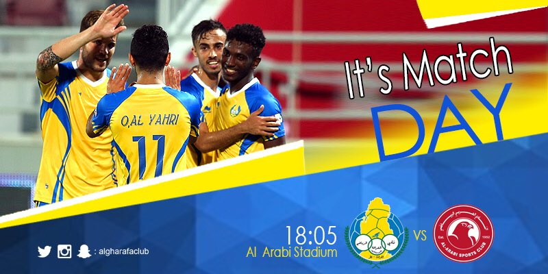 #matchday ⚽️ #algharafa 💛💙 https://t.co/...