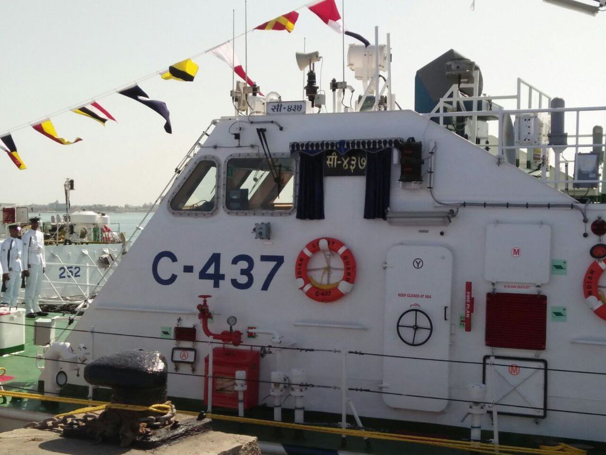 Coast Guard commissions IB C- 437, multifarious ship can attain speed up to 45 knots