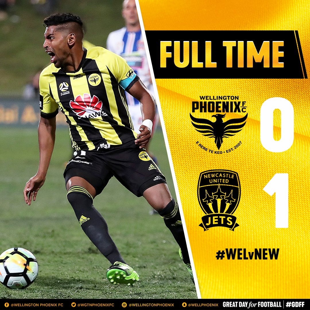 FULL TIME | Phoenix create plenty of chances but @NewcastleJetsFC made theirs count - one goal separates the two teams tonight #WELvNEW