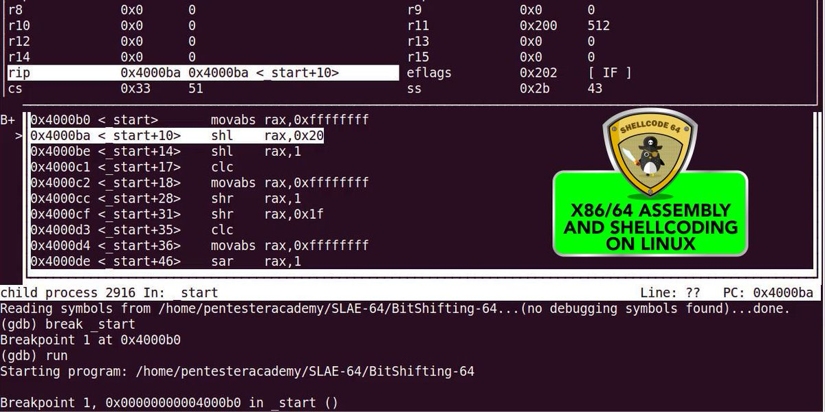 Pentester Academy On Twitter Learn 64bit Assembly Language