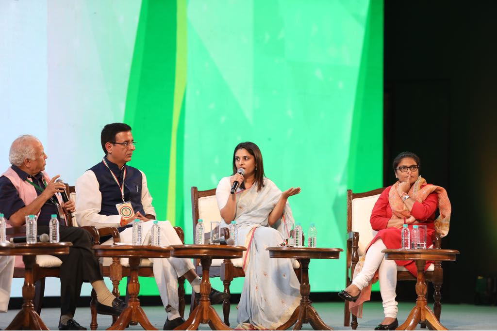 Social media platforms are an effective way of disseminating the truth into the public domain. The proliferation of fake news is a major challenge facing social media today, but truth has its own way of coming out @divyaspandana #CongressPlenary #ChangeIsNow:
