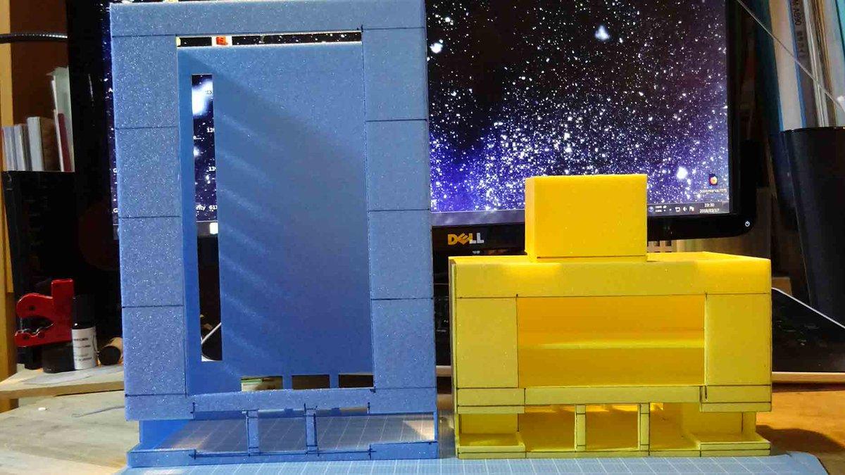 test ツイッターメディア - ダイソーのカラーボードはコスパいいなあ(^o^) ビルを構築中♪ #ダイソー #カラーボード https://t.co/SorTl7NtTo