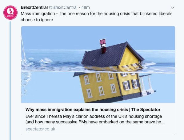 @Capt_Caavewoman @AlanGeraldWard2 @spectator The @spectator & @BrexitCentral are blaming immigrants & theyre just plain in wrong - so what is their motive?