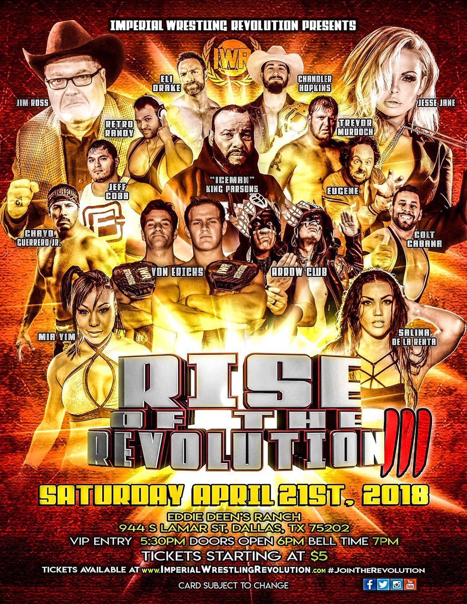 Media tweets by imperial wrestling iwrevolution twitter jr von erichs iceman chavo jesse jane mia yim eugene eli drake jeff cobb and more jointherevolutionpicitterfsr0vieb5a kristyandbryce Images