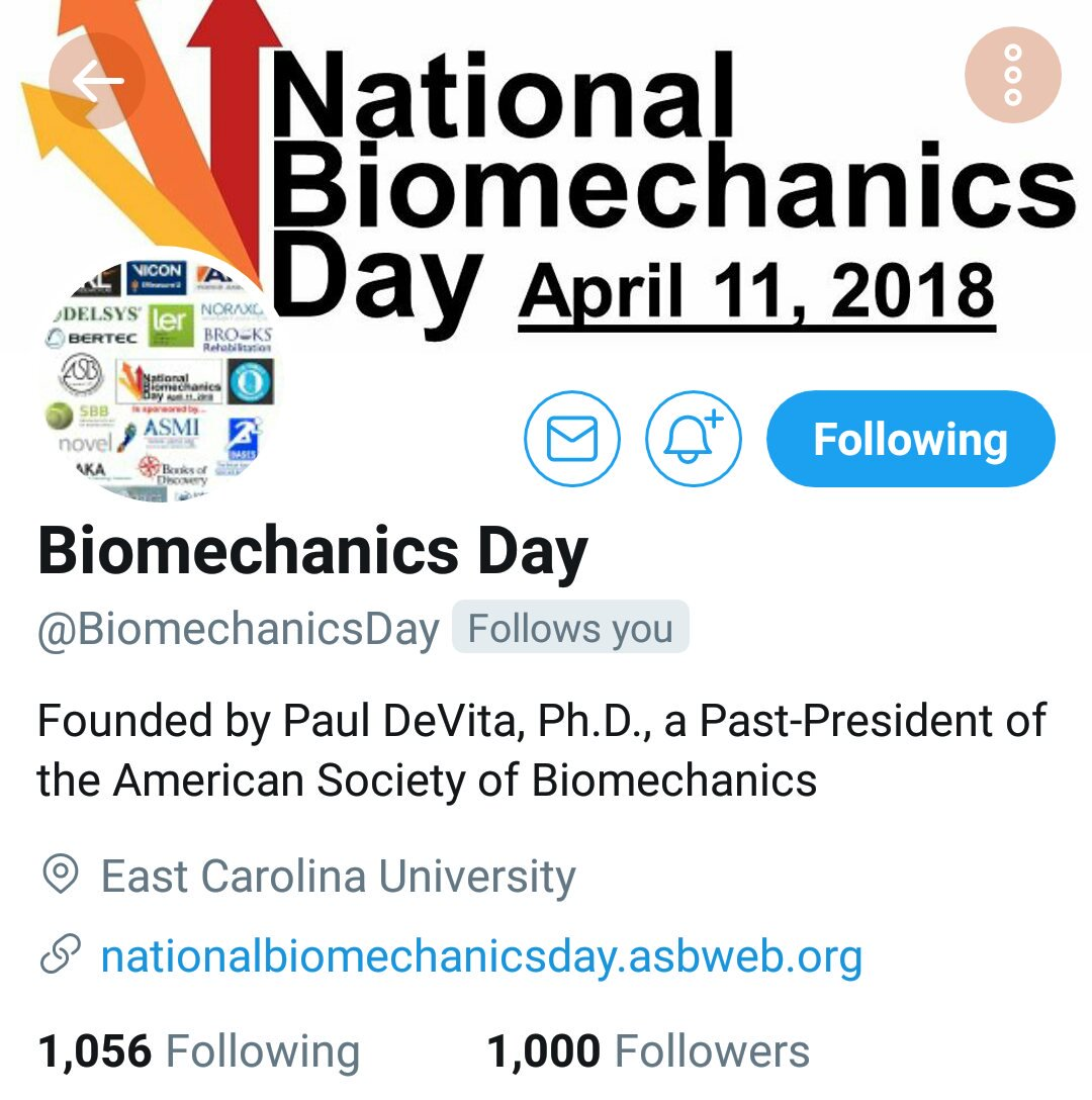 @BiomechanicsDay Is there a special #NBD...