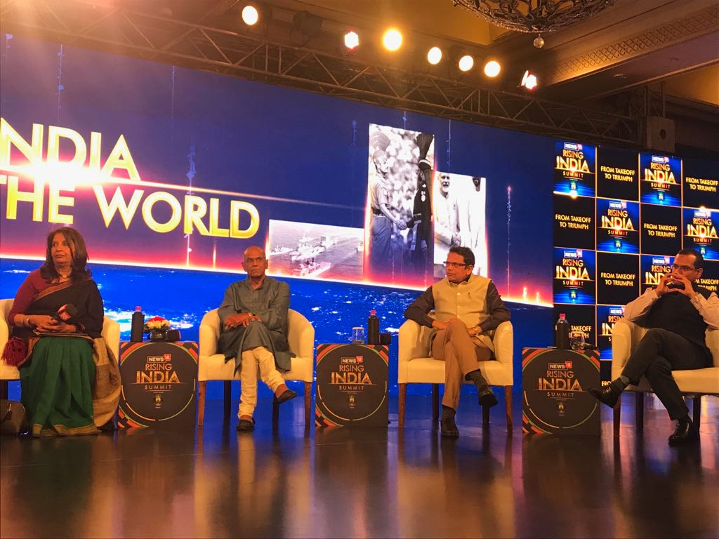 Challenge for India and China is how to make certain they manage their relationship in a way you don't eliminate all points of contention: Shyam Saran, Ex-Foreign Secy tells @Zakka_Jacob at #News18RisingIndia Summit