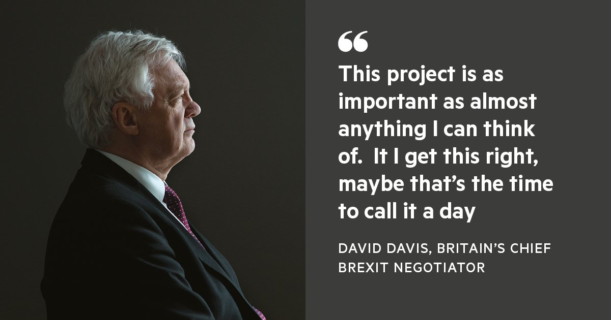The men in charge of Britain leaving the EU are divided by culture, politics and personality but united on one thing — they need to finish the job. Read our interview with David Davis and Michel Barnier here: https://t.co/NJgCcU502z