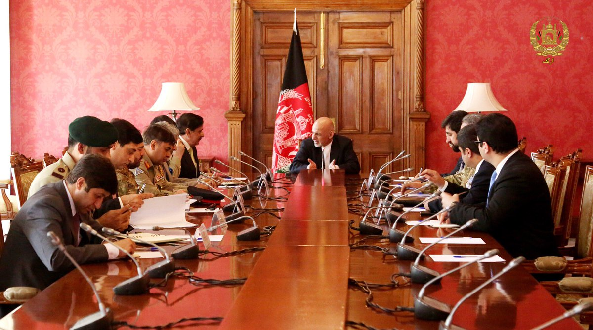 President @ashrafghani received Pakistani NSA at Dilkusha palace. As a follow up to #Kabul process, he has extended an official invitation to Pakistani Prime Minister to visit #Afghanistan. This is to initiate state to state comprehensive dialogue.