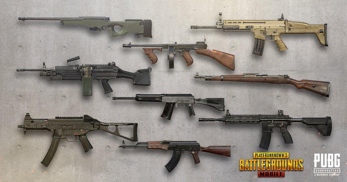 Resultado de imagem para pubg mobile weapons