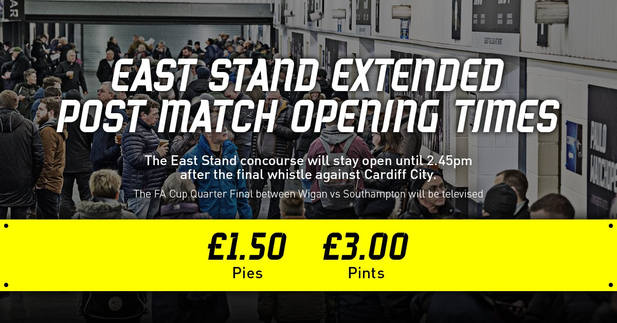 #DCFCvCCFC 📣   The East Stand concourse will be open until 2:45pm with reduced prices for pies and pints 🥧🍻  Be sure to stick around, #dcfcfans!