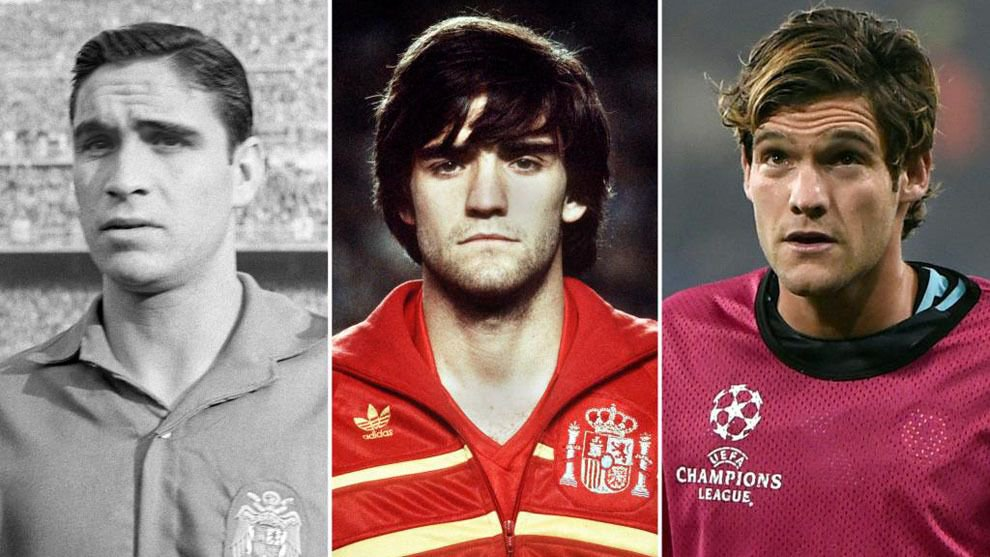 Marcos Alonso could become the third generation of his family to play for Spain 🇪🇸   His grandfather and father both played for their country.  👴 👱♂️ 👦  https://t.co/3JwMciwEda